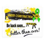 Bajo linfoma de la construcción tarjetas postales