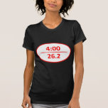 Bajo maratón de 4 horas camisetas