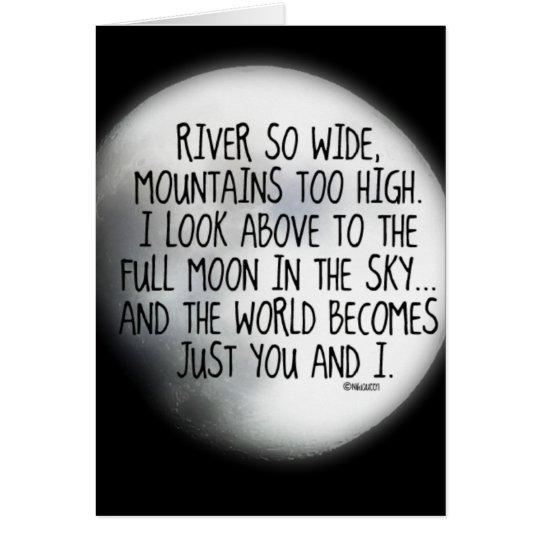 Bajo mismo poema de la luna tarjeta de felicitación