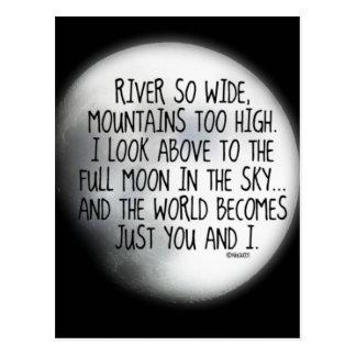 Bajo mismo poema de la luna postales