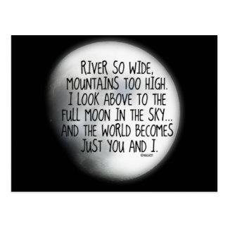 Bajo mismo poema de la luna postal
