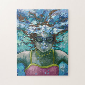 Bajo nadada del agua rompecabeza con fotos