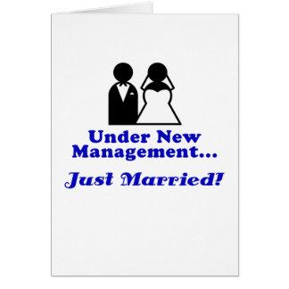 Bajo nueva gestión apenas casada felicitacion