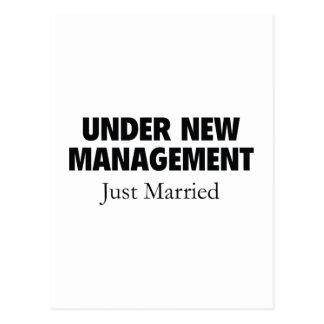 Bajo nueva gestión. Apenas casado Postales