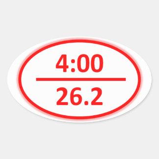 Bajo pegatina del maratón de 4 horas