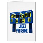 Bajo presión tarjetas