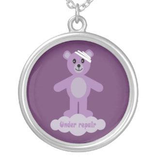 Bajo púrpura del oso de peluche de la recuperación grimpola personalizada