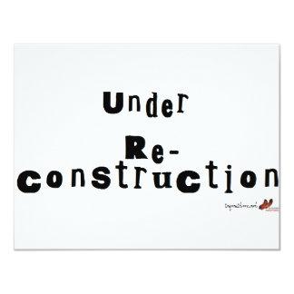 Bajo reconstrucción invitación personalizada