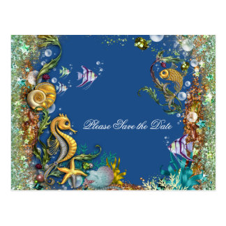 Bajo reserva del mar la fecha tarjeta postal