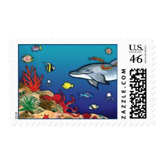 Bajo sello de la vida del océano del Mar