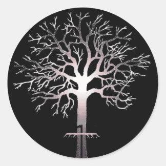 Bajo solo pegatina del árbol