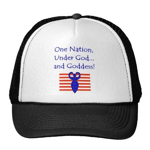 Bajo una nación gorros bordados
