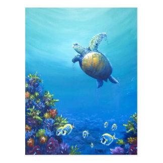 Bajo vida marina tarjetas postales