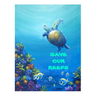 Bajo vida marina postales
