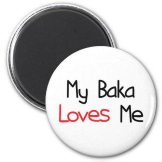 Baka Loves Me 2 Inch Round Magnet