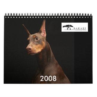 Bakari Dobermans 2008 Calendar