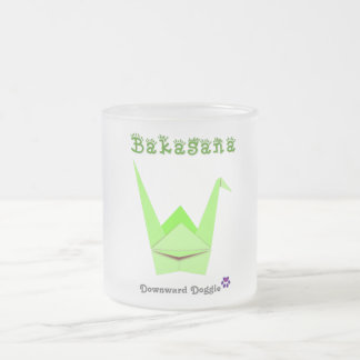 Bakasana 10 Oz Frosted Glass Coffee Mug