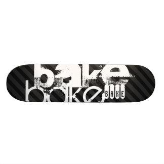 Bake; Black & Dark Gray Stripes Skateboard