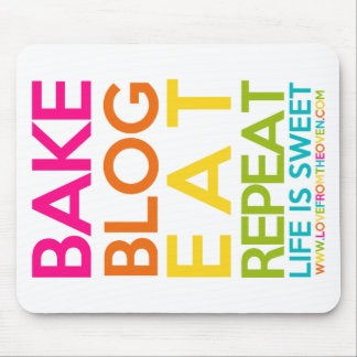 Bake Blog Eat Repeat Mousepad