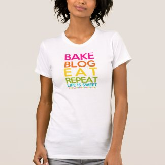 Bake Blog Eat Repeat T-shirts