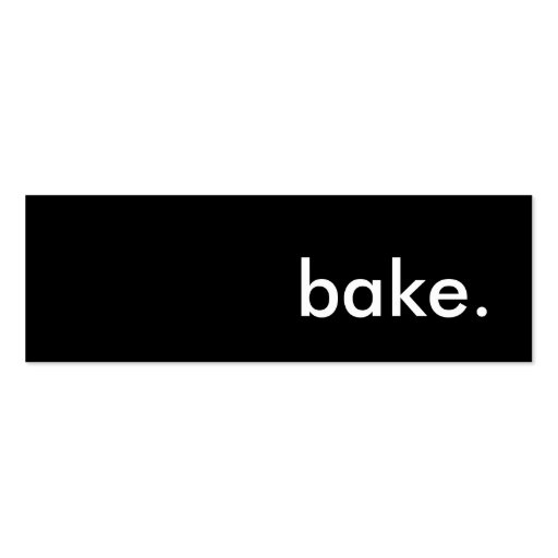 bake. business card templates