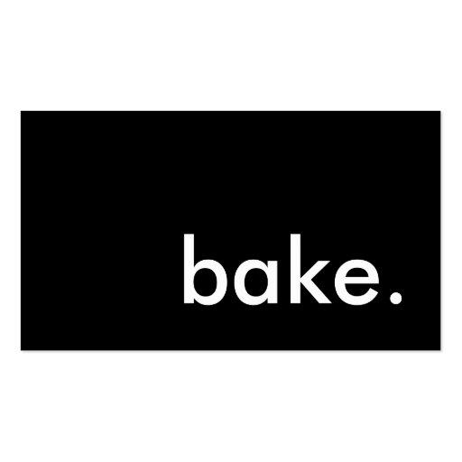bake. (color customizable) business card template