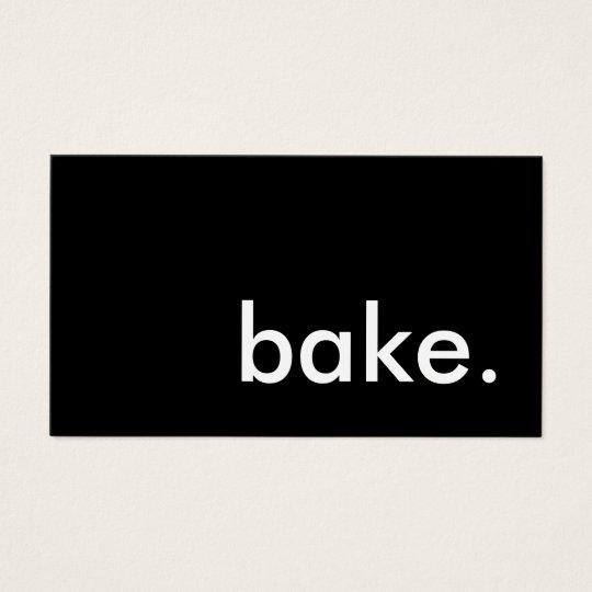 bake color customizable business card