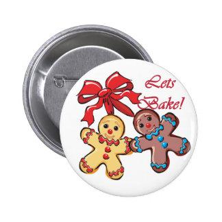 Bake Gingerbread Men Button