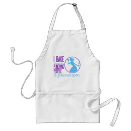 Bake Instead of Punching People Adult Apron