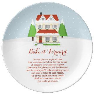 Bake it Forward Merry Christmas Dinner Plate