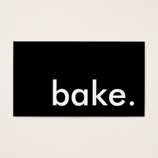 bake. loyalty punch card