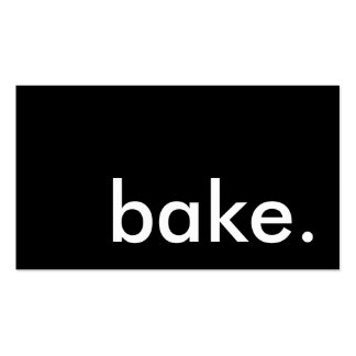 bake. loyalty punch card business card