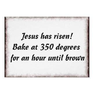 Bake Me A Jesus 5x7 Paper Invitation Card