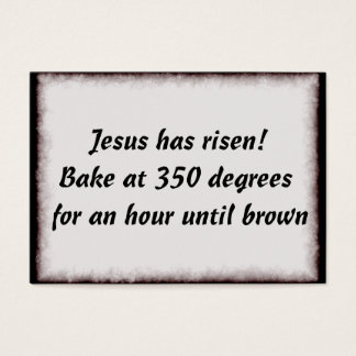 Bake Me A Jesus Business Card