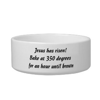 Bake Me A Jesus Pet Water Bowls