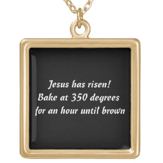 Bake Me A Jesus Square Pendant Necklace