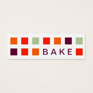 BAKE (mod squares) Mini Business Card