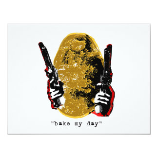 bake my day-gold 4.25x5.5 paper invitation card