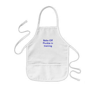 """Bake-Off Flunkie in training"" kid's apron"