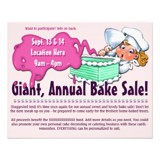 Bake Sale 2-sided Customizable Promotional Flyer