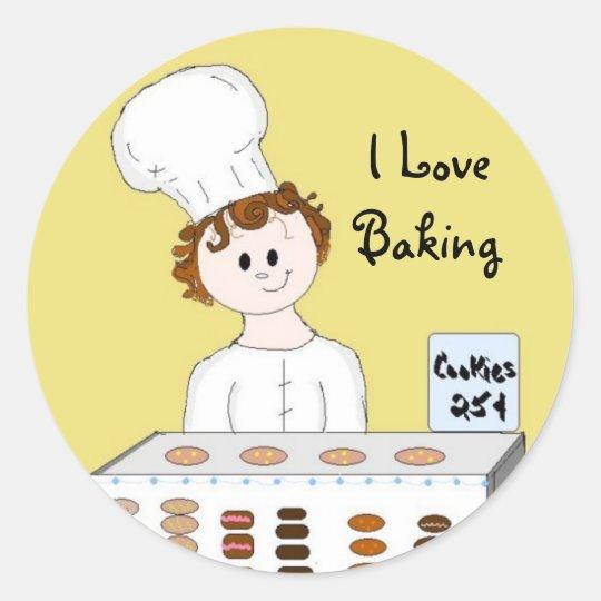 Bake Sale Classic Round Sticker