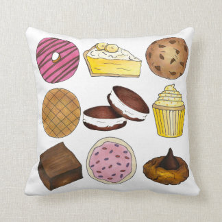 Bake Sale Cookie Cupcake Brownie Pie Donut Pillow