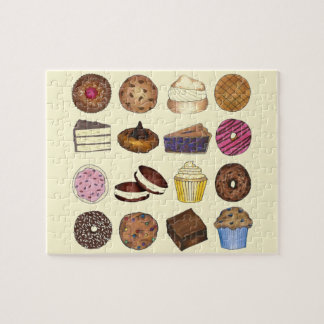 Bake Sale Cupcake Brownie Pie Cake Baked Goods Jigsaw Puzzle