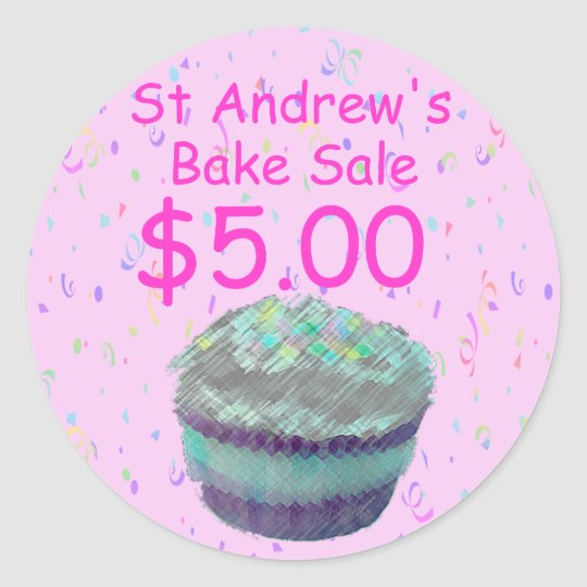 Bake Sale Cupcake Price Stickers