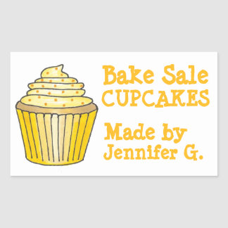 Bake Sale Cupcakes Personalized Baked By Stickers