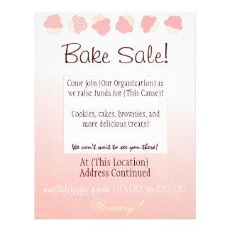 Bake Sale Flyer (Cupcake Border)
