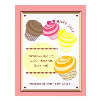 Bake Sale Flyer - Cupcakes