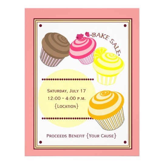 Bake Sale Flyer - Cupcakes | Zazzle