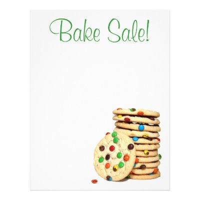 professional fun baking bake sale custom flyers zazzle com