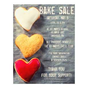 Bake Sales Flyers Zazzle